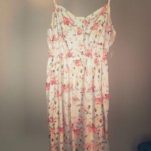 Short White Floral Dress